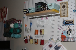 Organizing ideas - using a pegboard